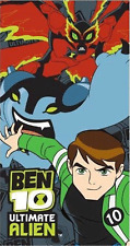 BEN 10 ULTIMATE ALIEN BATH BEACH CHARACTER TOWEL FOR BOYS KIDS SWIMMING HOLIDAY