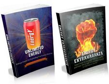 "2 "" Energy "" Ebooks - Get More Energy Today - PDF + Full Resale Rights - Fast"