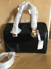 MICHAEL KORS GRAYSON MEDIUM SATCHEL HAND BAG CROSSBODY BAG 35S6MGYS2Z BLACK $328