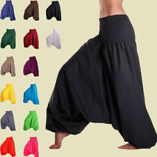 Women Harem Pants Cotton Aladdin Trouser Men Baggy Yoga Jinny Indian Dance Pants