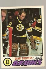 1977 - 1978 Topps Hockey Set GARY CHEEVERS Card
