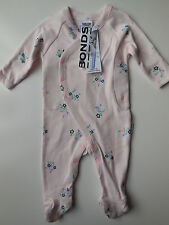 BONDS Baby Girl Pink Floral Coverall Size 000 Fits 0-3m RRP $25.95 NEW *Gift*