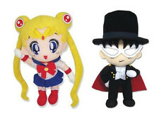 Official Tuxedo Mask (GE-7532) & Sailor Moon (GE-6971) Stuffed Plush (Set of 2)
