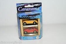 HONGWELL CARARAMA SET VW VOLKSWAGEN BEETLE KAFER CABRIOLET SALOON MINT BOXED