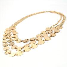 Women Fashion Jewelry Multilayer Chain Pendant Choker Statement Bib Necklace