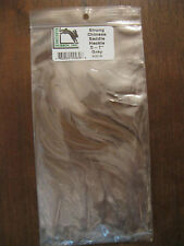 """Fly Tying- Hareline 5-7"""" Dyed Strung Saddle Hackle Feathers- Gray"""