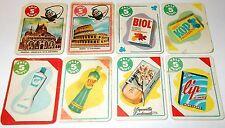 8 Figurine Mira Lanza piccole con Calimero, Lip, Kop, Biol tutte diverse