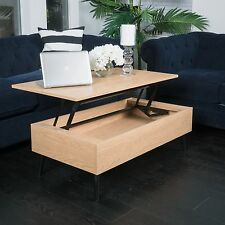 Living Room Furniture Mid-Century Design Wood Lift Top Storage Coffee Table