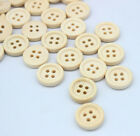 80PC Natural Wooden Sewing Buttons Round Concave Pattern Scrapbooking 15MM C001