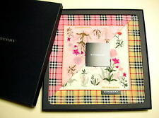 RARE!! BURBERRY 2pcs Handkerchief scarf Flower Beige Check Cotton Gift Box New