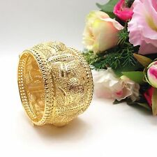 Indian Asian Bridal Jewellery Ethnic Wear 22ct Gold Plated Bangle Kada Size:2.8