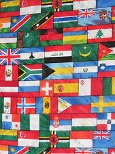 Medical_Surgical_ scrub hat_cap_flags_many countries_crowded together_cotton