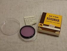 VINTAGE AETNA ROKUNAR COATED FILTER 52MM FL-B LENS