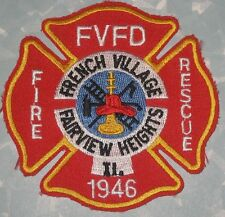 French Village Fairview Heights IL Fire Rescue Patch - Illinois - FVFD