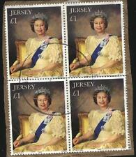 [JSC] 1993 JERSEY £1 QE2 40th Anniv. of Coronation definitive USEDx4