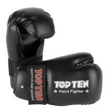 Top Ten Point Fighter Gloves Sparring Taekwondo Kickboxing Martial Arts Size Med