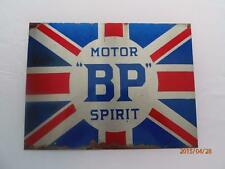 "BP MOTOR SPIRIT  METAL WALL PLAQUE / SIGN 8"" X 6"" WITH FIXING PADS"