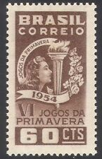 Brazil 1954 Sport/Games/Torch/Flame/Flowers 1v (n26717)