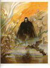 "1980 Full Color Plate ""Count Dracula"" by Frank Frazetta Fantastic GGA"