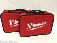 """Two (2) New Milwaukee M12 2401-20 Tool Bag 13"""" Soft Case Heavy Duty Canvas Tote"""
