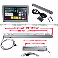 2 Axis Digital Readout DRO Kits+2pcs Linear Scale for Milling EMD Grinding