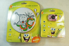 Nickelodeon Portable CD Player + Clip MP3 Player Bundle