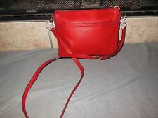 Fossil Real Red Leather Crossbody Bag