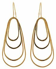 Zest Multi Loop Fishtail Hook Pierced Earrings Golden