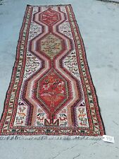 3x10ft. Caucasian Persian Tribal Wool Sumak Runner