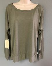 NWT HORNY TOAD GRAY OLIVE GREEN OVERSIZED WIDE TOP BLOUSE SHIRT SIZE MEDIUM