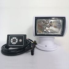 Boat Remote Control Spotlight Marine Truck RV Searchlight 12V 100W Halogen Bulb