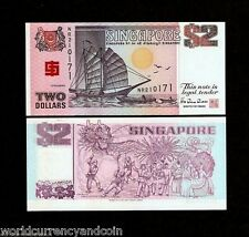 SINGAPORE $2 P31A 1994 BOAT BCCS COMMEMORATIVE UNC CURRENCY MONEY BRUNEI NOTE