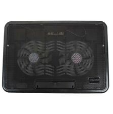 "12-15"" Laptop PC LED Light USB Cooling Cooler 2 Big Fan Net Stand Pad Portable"