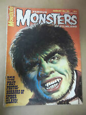FAMOUS MONSTERS 34 Spider Island Leech Woman Dr Jekyll Mr. Hyde August 1965