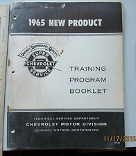 1965 Chevrolet New Product Training Booklet.