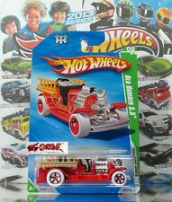 Hot Wheels 2010 T-HUNT REG #060 Old Number 5.5® RED,WHITE TIRES,RED 5SP,BLACK BS