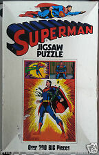Over 200 Piece 1973 SUPERMAN Jigsaw Puzzle DC Comics National Periodical - Used