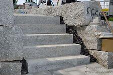 Granit Blockstufen 120x35x15cm grau  Granitstufen Treppen Mauersteine Naturstein