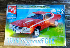 AMT ERTL 1974 PLYMOUTH 440 GTX 1:25TH SCALE PLASTIC MODEL KIT MUSCLE CARS