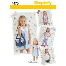 SIMPLICITY SEWING PATTERN CHILDS DRESS TOP PANTS SHORTS PURSE  DOLL 3-8 1475