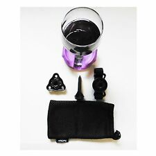 Outdoor Wine Glass Holder With Attachments Graphite Gray by Bella D'vine