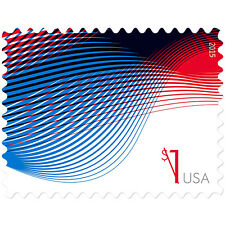 USPS New $1 Patriotic Wave Stamp Sheet of 10
