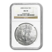 2008 Silver American Eagle Coin - MS-70 NGC