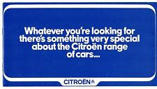 Citroen 1972-73 UK Market Sales Brochure SM DS GS Ami Dyane