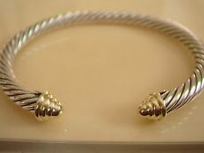 DAVID YURMAN 14K GOLD, SS CABLE CLASSIC DOME BRACELET