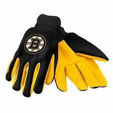 Boston Bruins Gloves Sports Logo Utility Work Garden NEW Colored Palm
