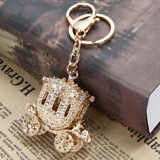 Rhinestone Crystal Charm Pendant Handbag Purse Bag Key Ring Chain Keychain Gift