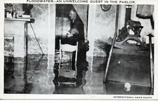 Postcard Pittsburgh PA Flood of 1936 An Unwelcome Guest In The Parlor Unposted