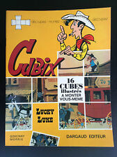 RARE Album jeu à monter Cubix Lucky Luke  Dargaud 1971 TBE