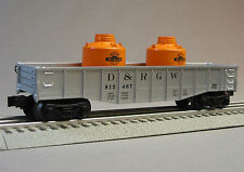 LIONEL D & RGW GONDOLA W CANISTERS train car o gauge coal rolling 6-25942 G NEW